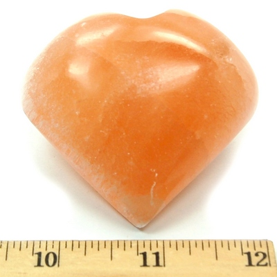 Hearts - Selenite Heart - Orange (Morocco)
