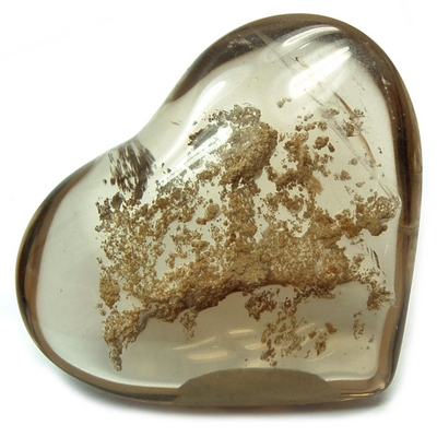 "Hearts - Smokey Quartz Heart ""Extra\"" (Brazil & China)"