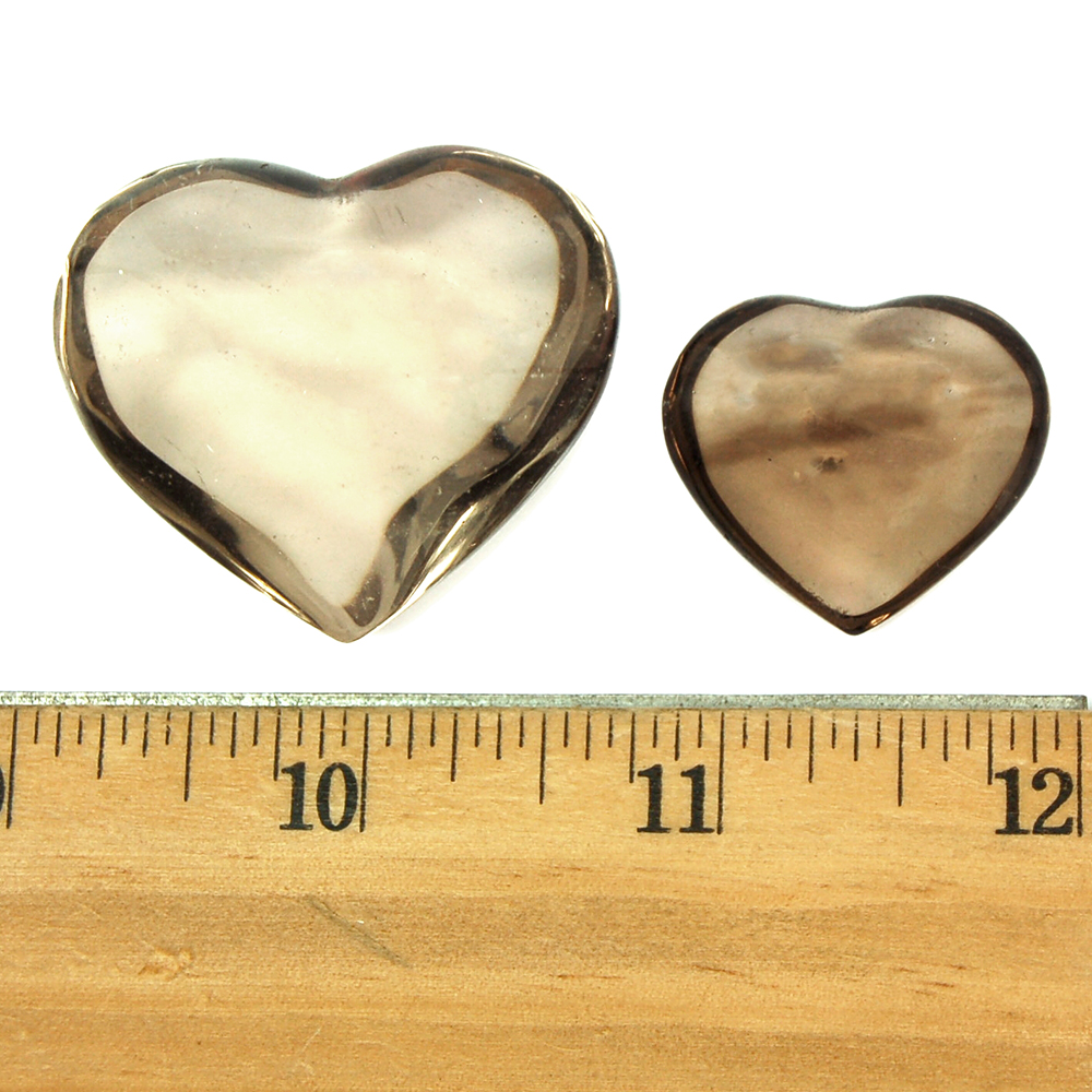 "Hearts - Smokey Quartz Crystal Heart ""Extra"" photo 4"