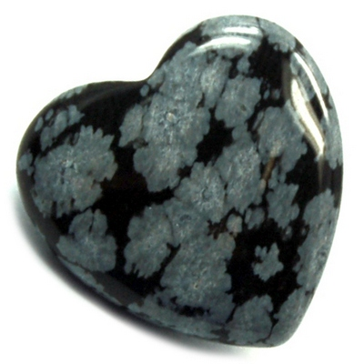 Hearts - Snowflake Obsidian Heart photo 7