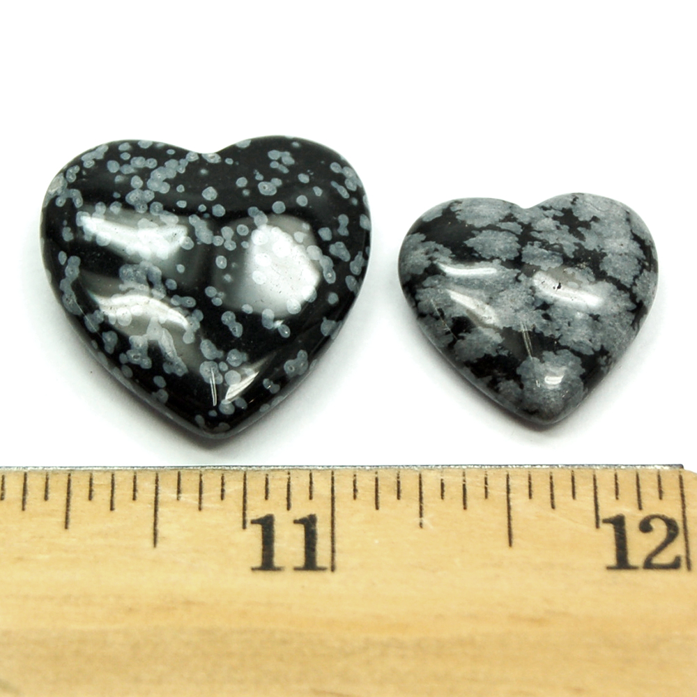 Hearts - Snowflake Obsidian Heart photo 4