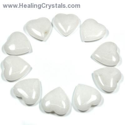 Hearts - White Aventurine Heart (China)