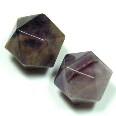 Discontinued - Icosahedron Platonic Solid - Amethyst