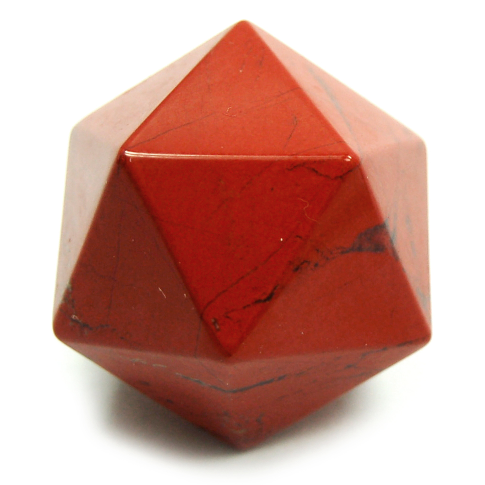 Icosahedron Platonic Solid - Red Jasper (China)