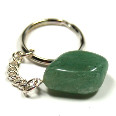 Discontinued - Tumbled Green Aventurine Keychain - 5pcs.