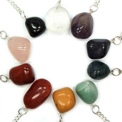 Tumbled Stone/Crystal Keychains - Mixed Stones