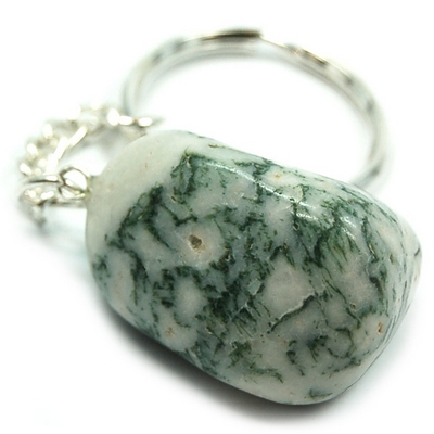 Keychains - Tumbled Tree Agate Keychain (India)