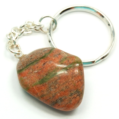 Discontinued - Tumbled Unakite Keychain