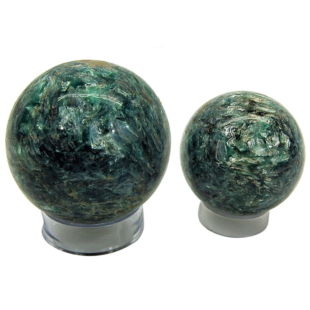 Kyanite - Blue-Green Kyanite Crystal Spheres