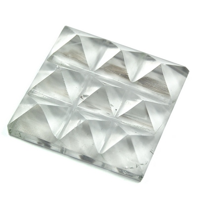 Lemurian 9 Pyramid Charging Plate - Clear Quartz Crystal (India)