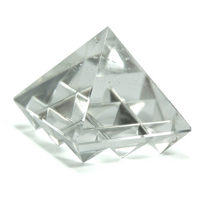 Lemurian Master Pyramid - Clear Quartz Crystal (India)