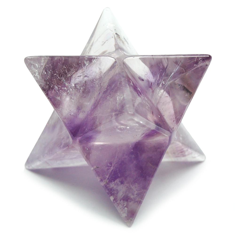 Amethyst Merkaba Merkabah Crystal Pendant...Stunning!