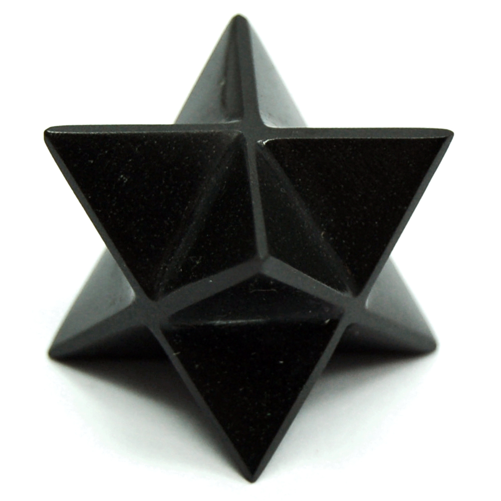 Merkaba - Black Agate Merkaba Star (India)