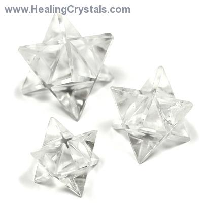 Merkaba - Clear Quartz Merkaba Star (India)