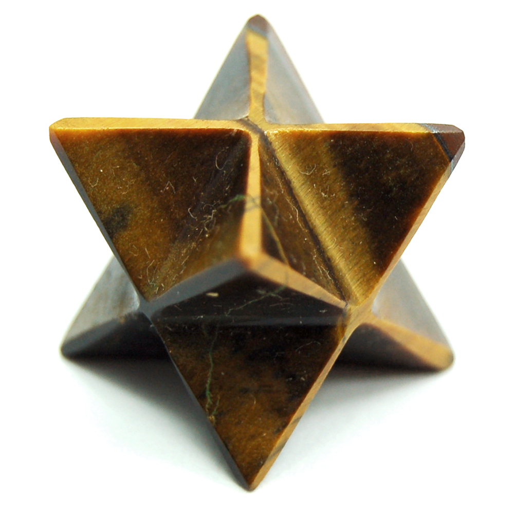 CLEARANCE - Merkaba - Golden Tiger Eye Merkaba Star (India)