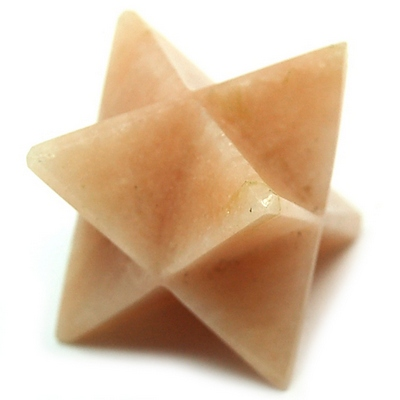 Merkaba - Peach Moonstone Merkaba Star (India)