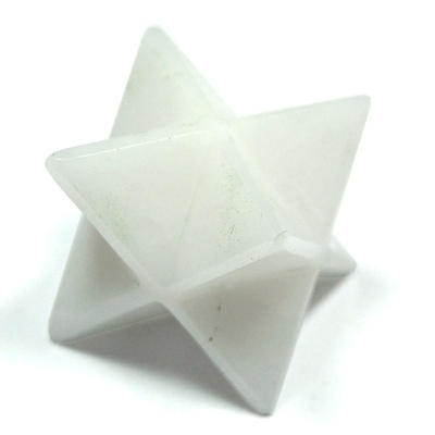 Discontinued - White Aventurine Merkaba Star (India)