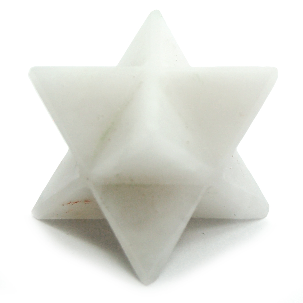 White Aventurine Merkaba Star (India)