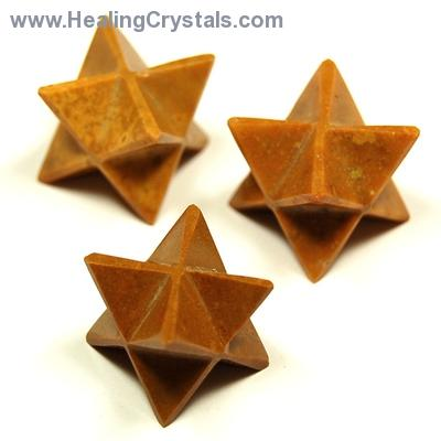 Discontinued - Yellow Jasper Merkaba Star (India)
