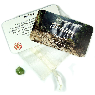 Mix - Tumbled Daily Affirmation Cards w/Crystal Sets