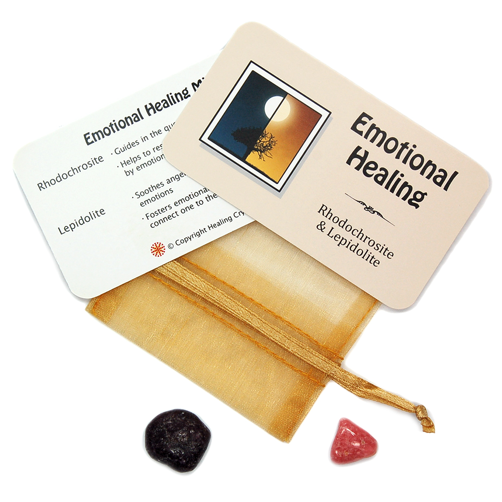 Mix - Tumbled Emotional Healing Mix - 2 Piece Set w/Pouch