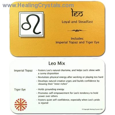 Mix - Tumbled Leo Mix (Zodiac) - 2 Piece Set w/Pouch