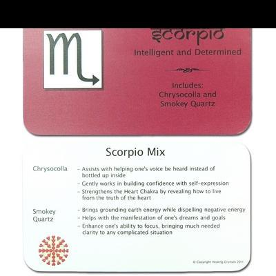 Mix - Tumbled Scorpio Mix (Zodiac) - 2 piece Set w/Pouch