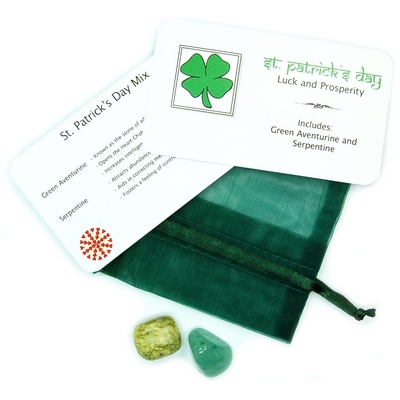 CLEARANCE -  Tumbled St. Patrick's Day Mix - 2 Piece Set w/Pouch