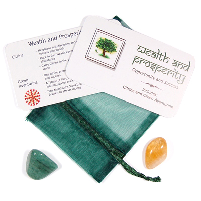 Mix - Tumbled Wealth and Prosperity Mix - 2 Piece Set w/Pouch