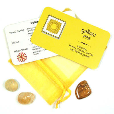 Mix - Tumbled Yellow Mix - 3 Piece Set w/Pouch