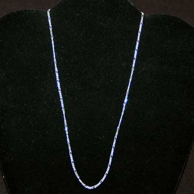 Necklace - Sterling Silver Chain - Thin Figaro Style