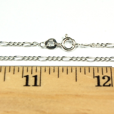 Necklace (Sterling Silver) - Thin Figaro Style photo 3