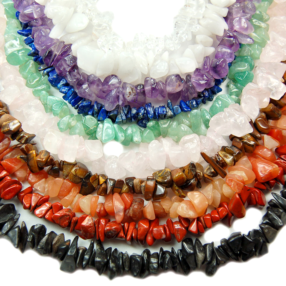 Necklaces - Chakra Tumbled Chips Necklace Assortments (India)