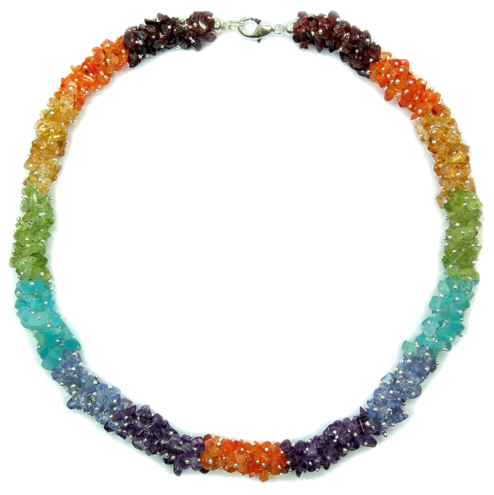 Necklaces - 7 Chakra Cluster Necklace #2 (India)