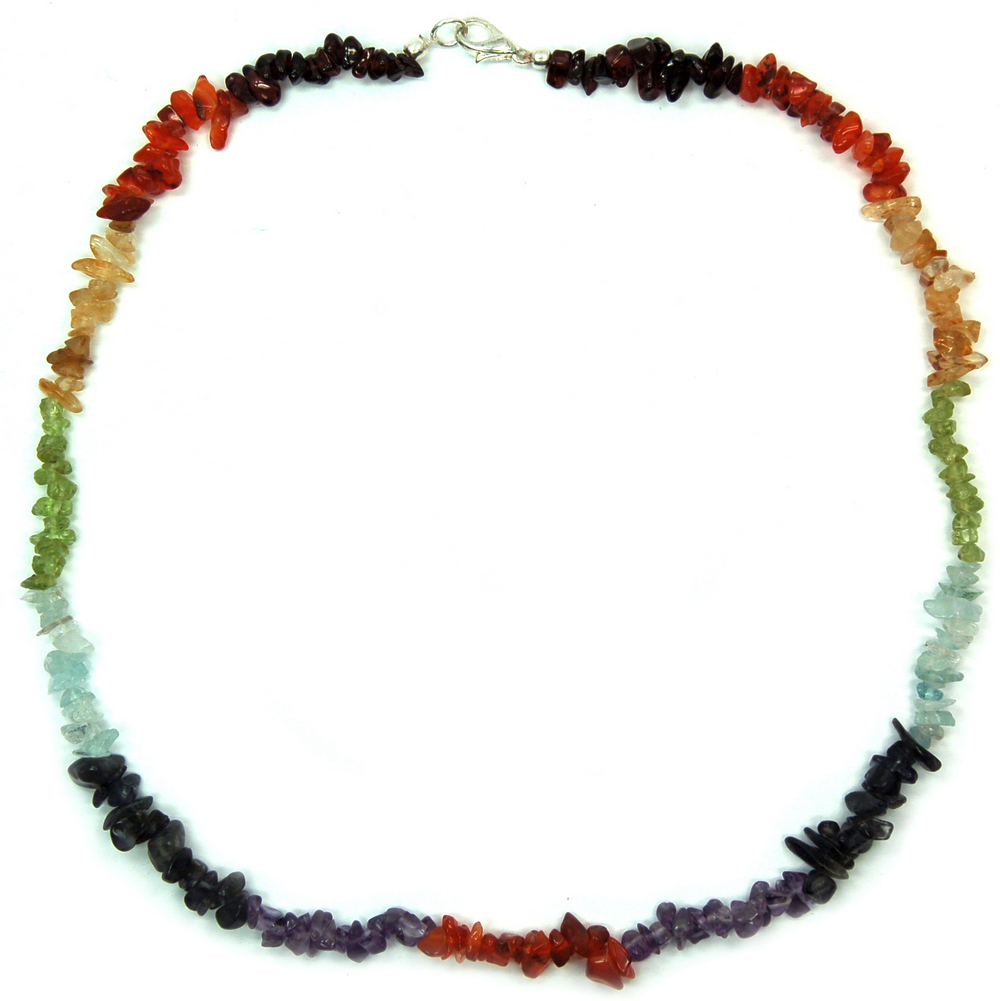 Necklaces - 7 Chakra Tumbled Chips Necklace #2 (India)