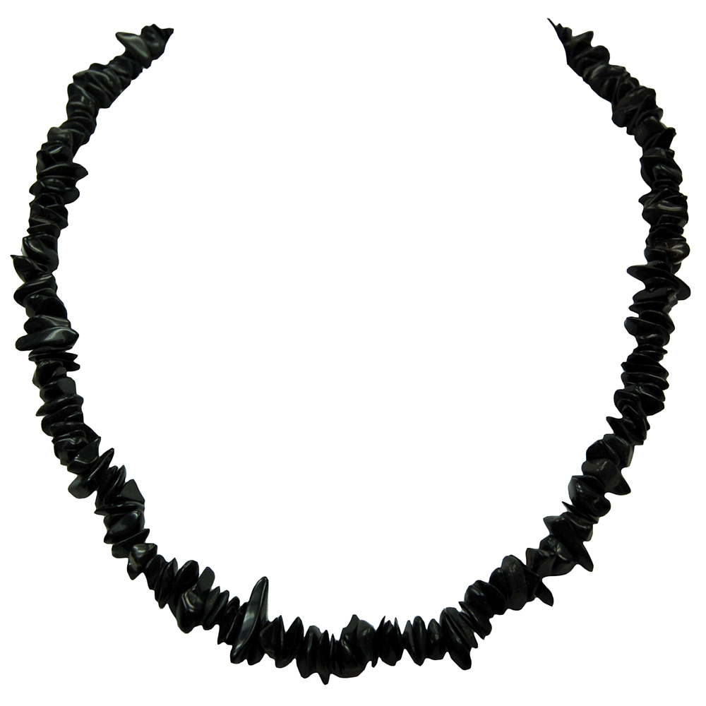 Necklaces - Black Agate Tumbled Chips Necklace (India)