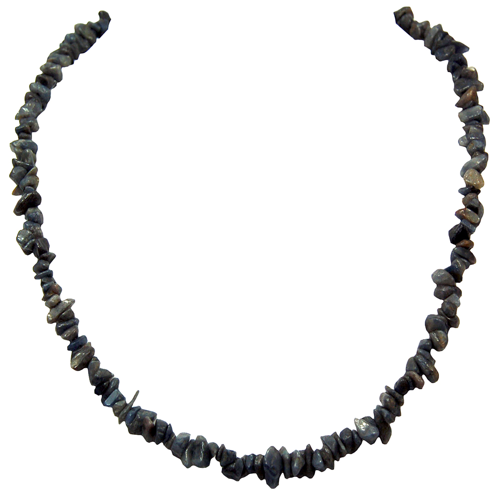 Necklaces - Blue Sapphire Tumbled Chips Necklace (India)