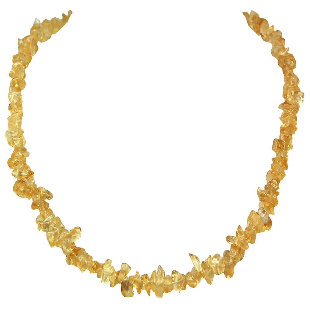 Necklaces - Citrine Tumbled Chips Necklace (India)