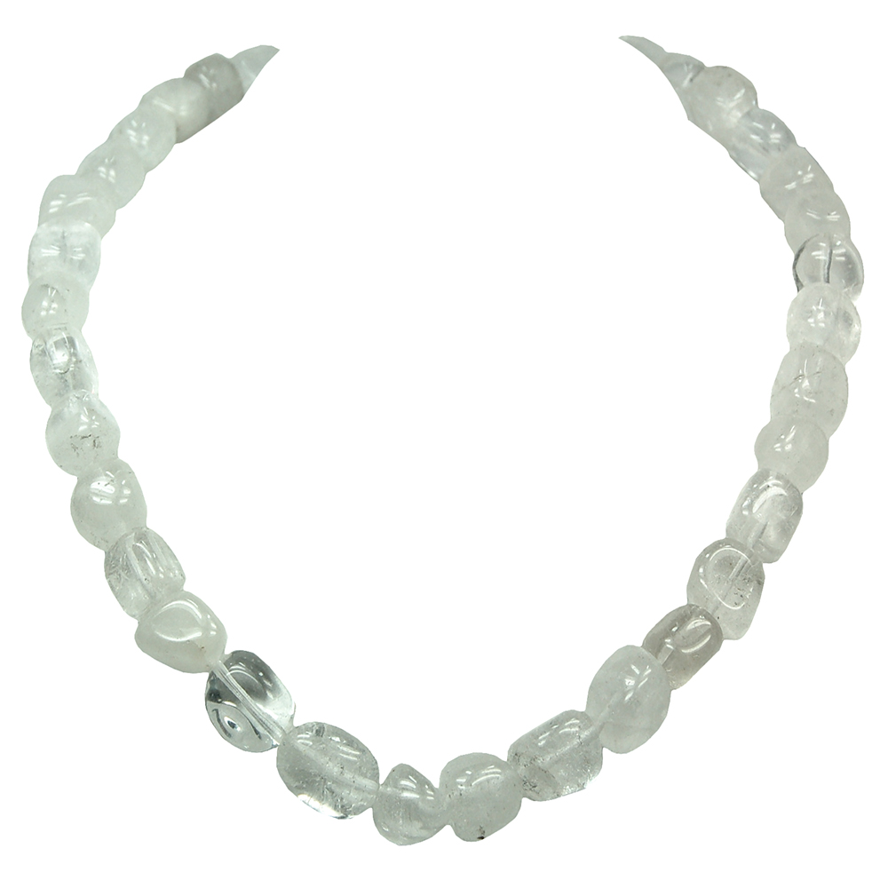 Necklaces - Clear Quartz Tumbled Nugget Necklace (China)