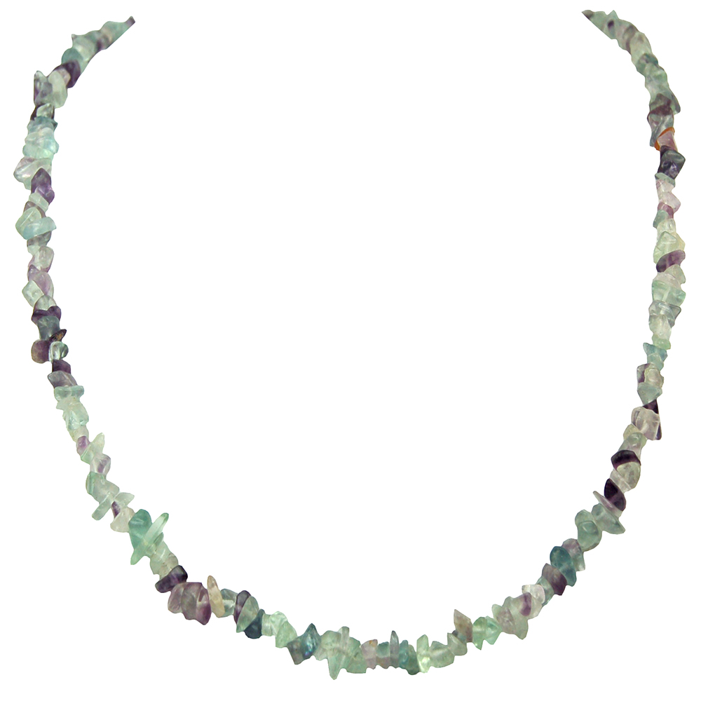 Necklaces - Fluorite Tumbled Chips Necklace (India)