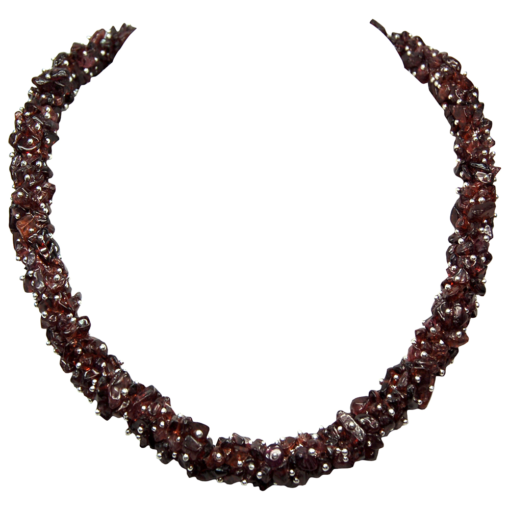 Necklaces - Garnet Cluster Necklace (India)