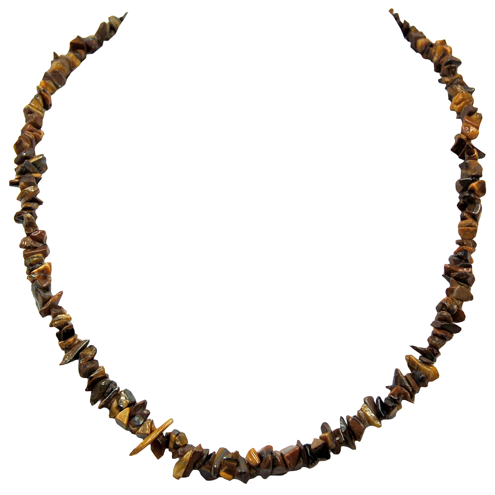 Necklaces - Golden Tiger Eye Tumbled Chips Necklace (India)
