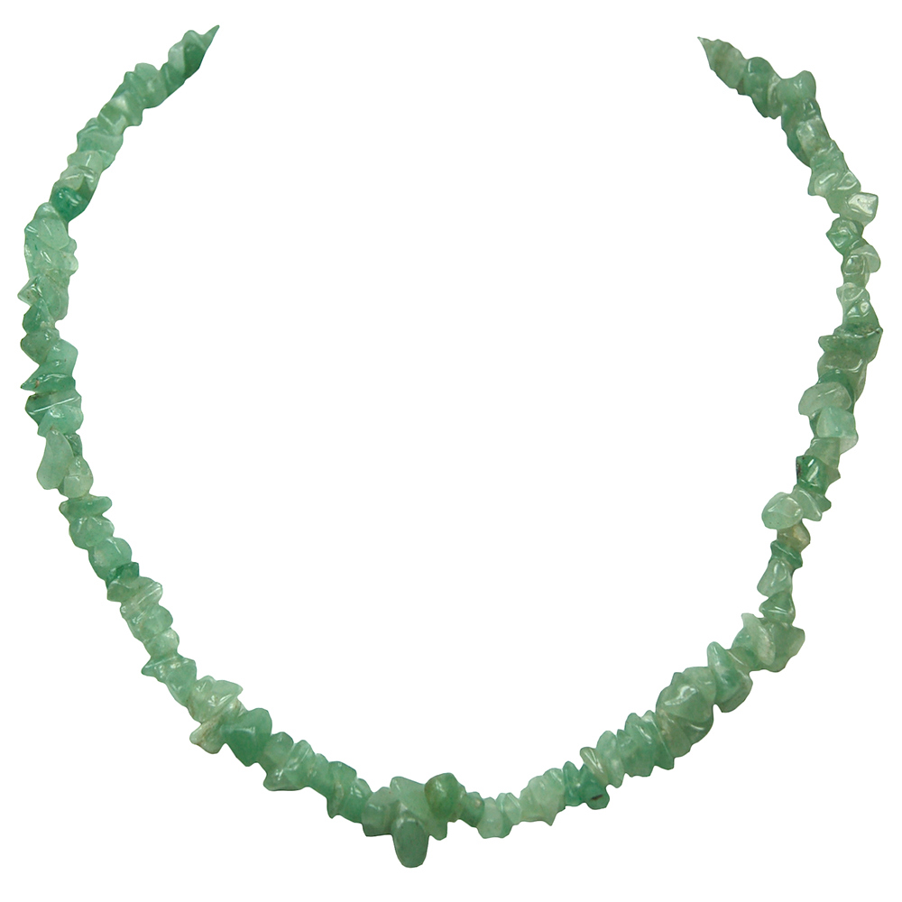 Necklaces - Green Aventurine Tumbled Chips Necklace (India)