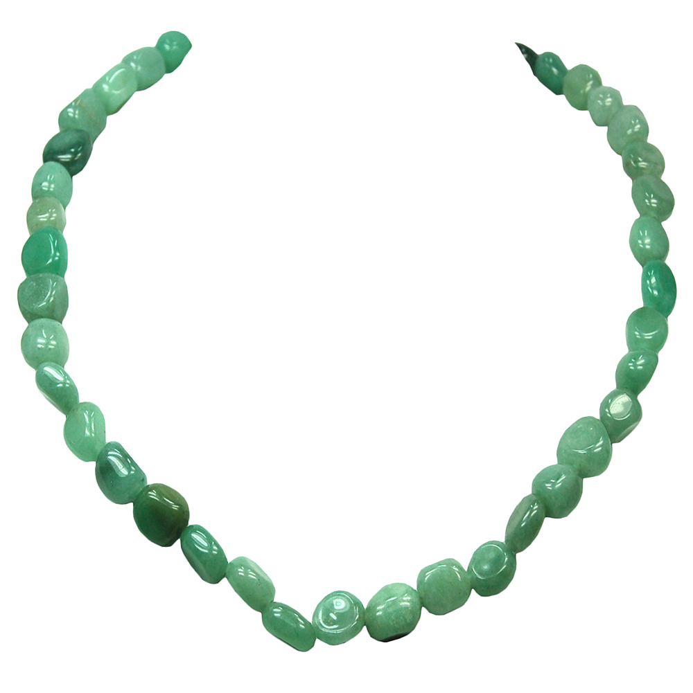 Necklaces - Green Aventurine Tumbled Nugget Necklace (China)