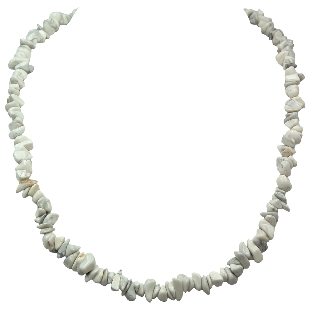 Necklaces - Howlite Tumbled Chips Necklace (India)