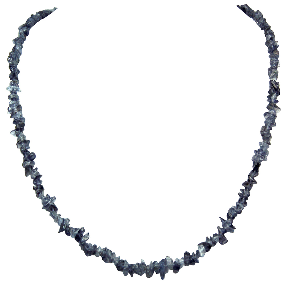 Discontinued - Iolite Tumbled Chips Necklace (India)