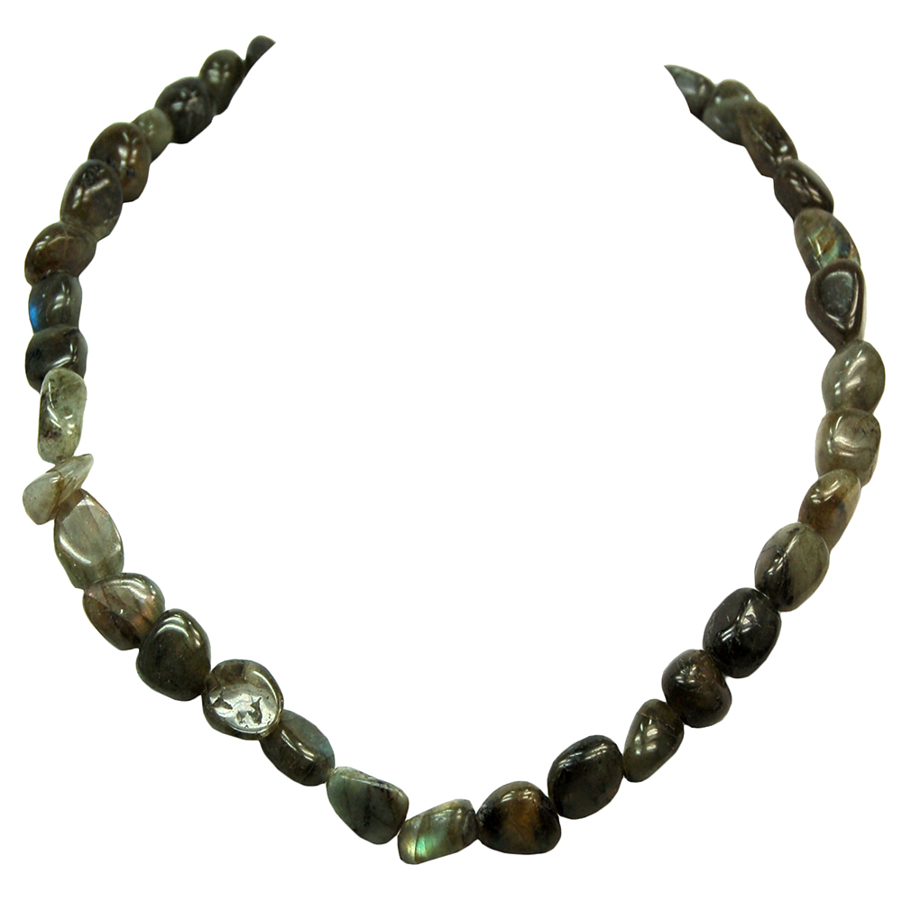 Necklaces - Labradorite Tumbled Nugget Necklace (India)