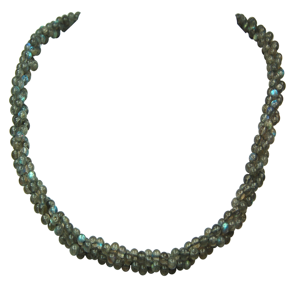 Discontinued - Labradorite Twisted Rope Necklace (India)