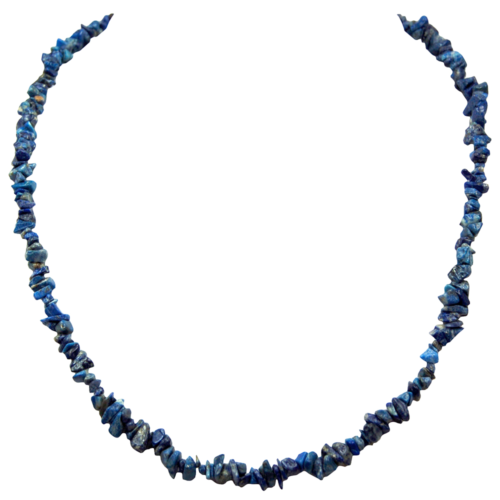 Necklaces - Lapis Lazuli Tumbled Chips Necklace (India)