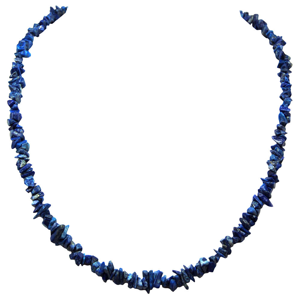 "Necklaces - Lapis Lazuli Tumbled Necklace - ""Extra"" (India)"